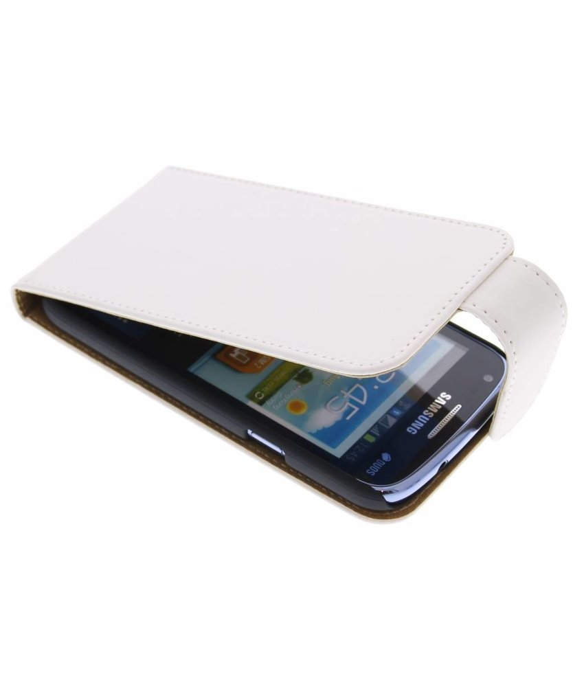 Wit classic effen flipcase Samsung Galaxy Core