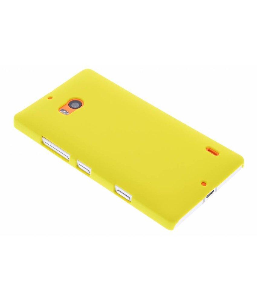 Geel effen hardcase hoesje Nokia Lumia 930