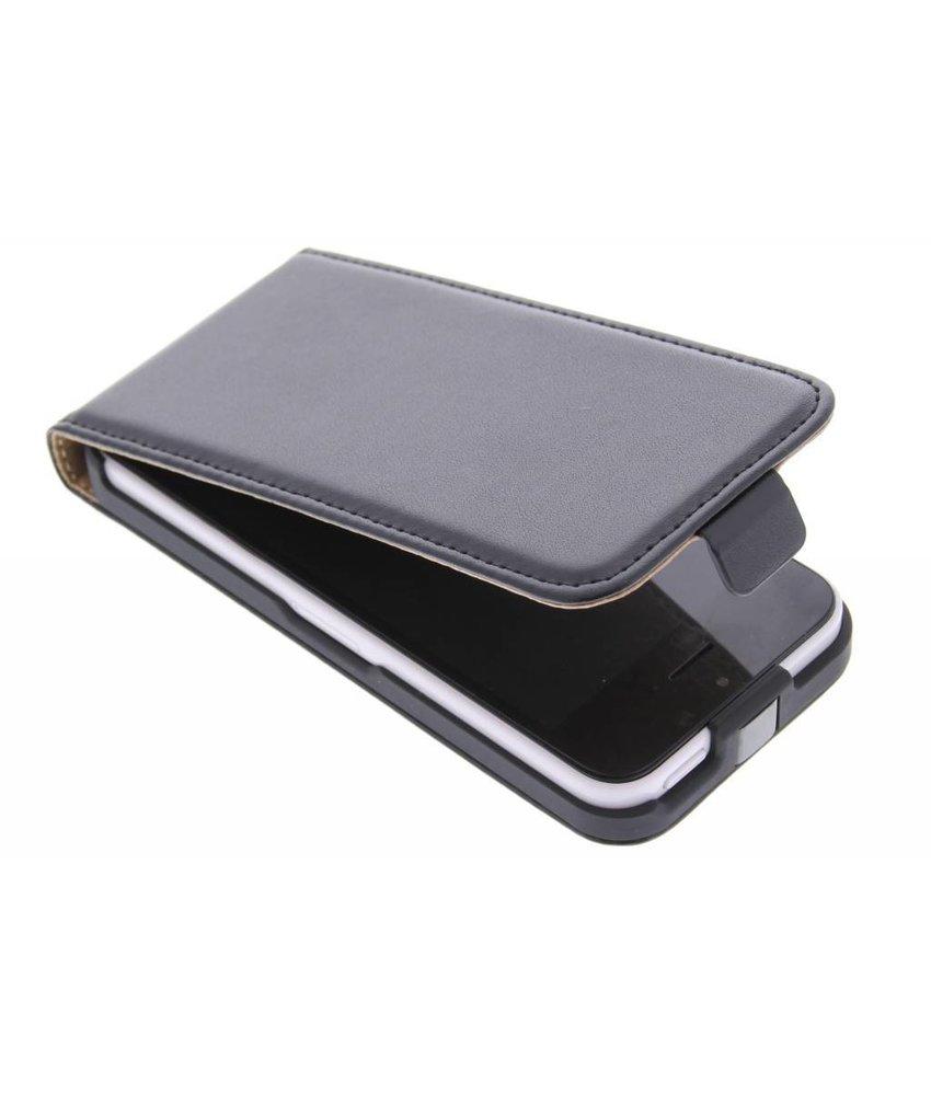 Zwart luxe flipcase iPhone 5c