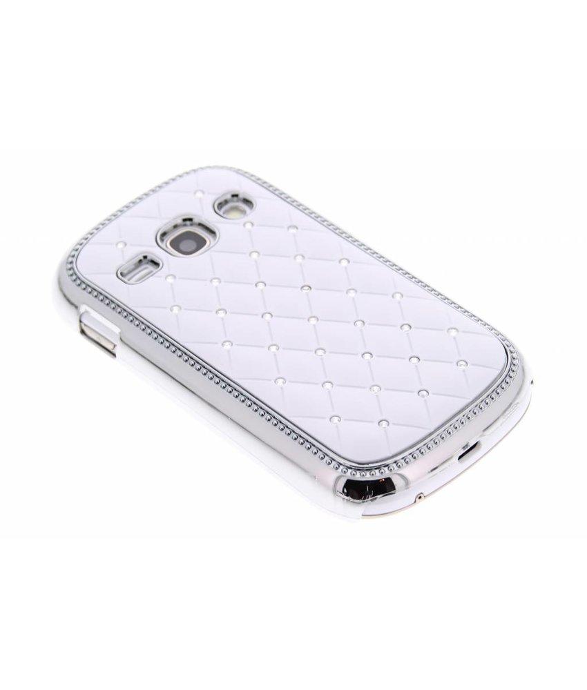 Wit strass design hardcase hoesje Samsung Galaxy Fame