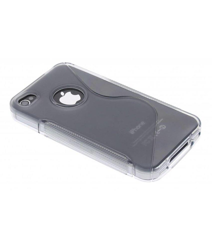 Grijs S-line TPU hoesje iPhone 4 / 4s