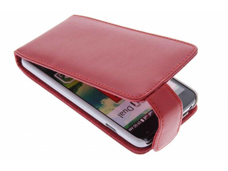 LG L90 hoesje - Rode stijlvolle flipcase voor