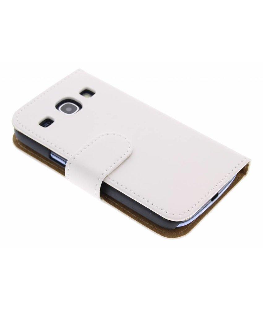 Wit effen booktype Samsung Galaxy Core