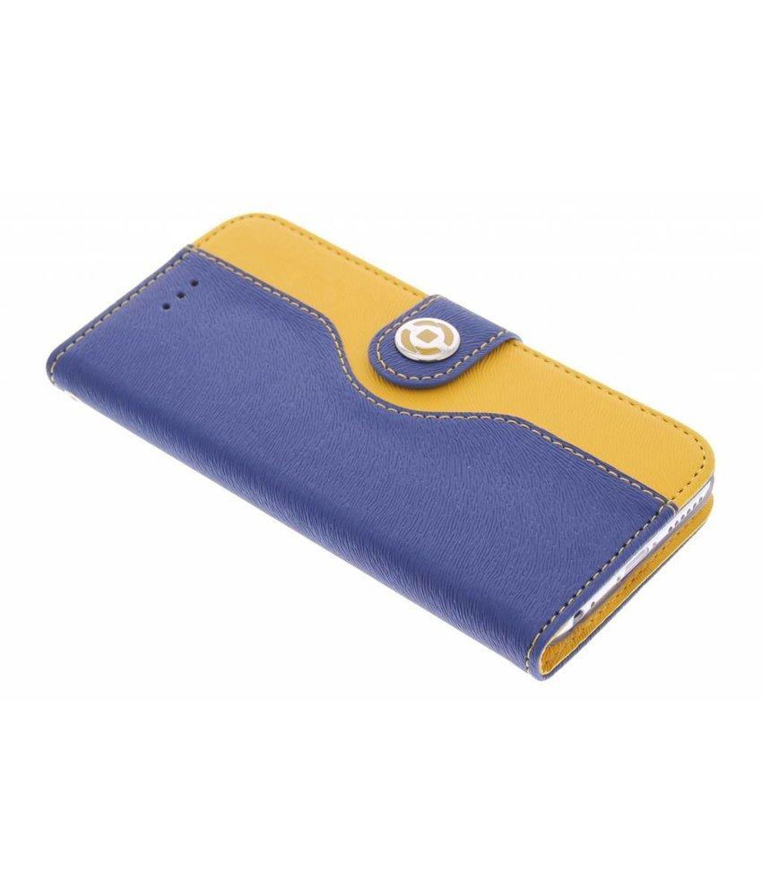 Celly Onda Wallet Case iPhone 6 / 6s - blauw/geel