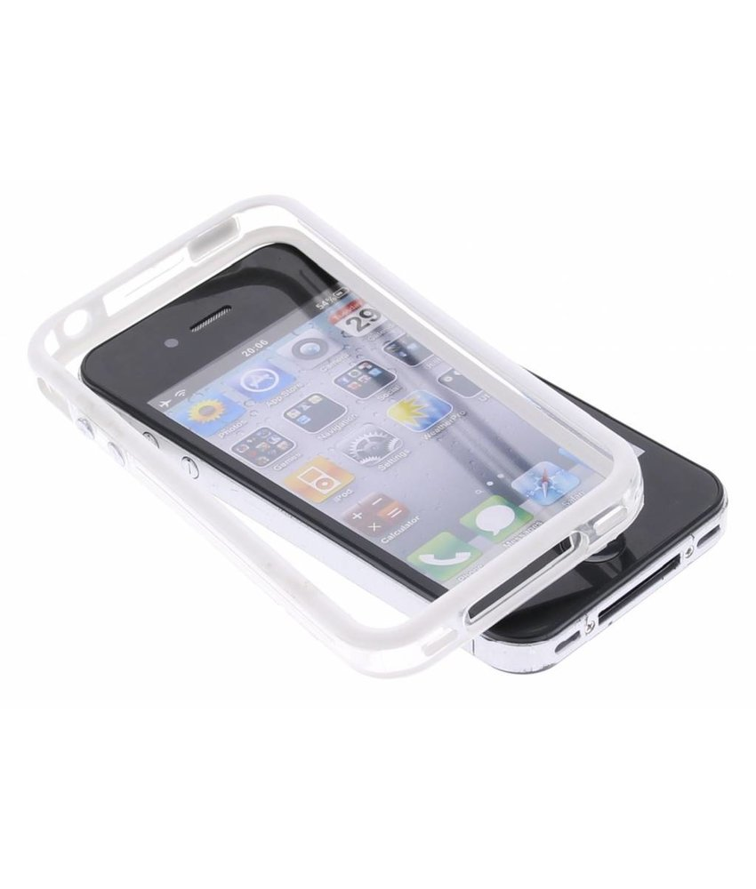 Wit transparante bumper iPhone 4 / 4s