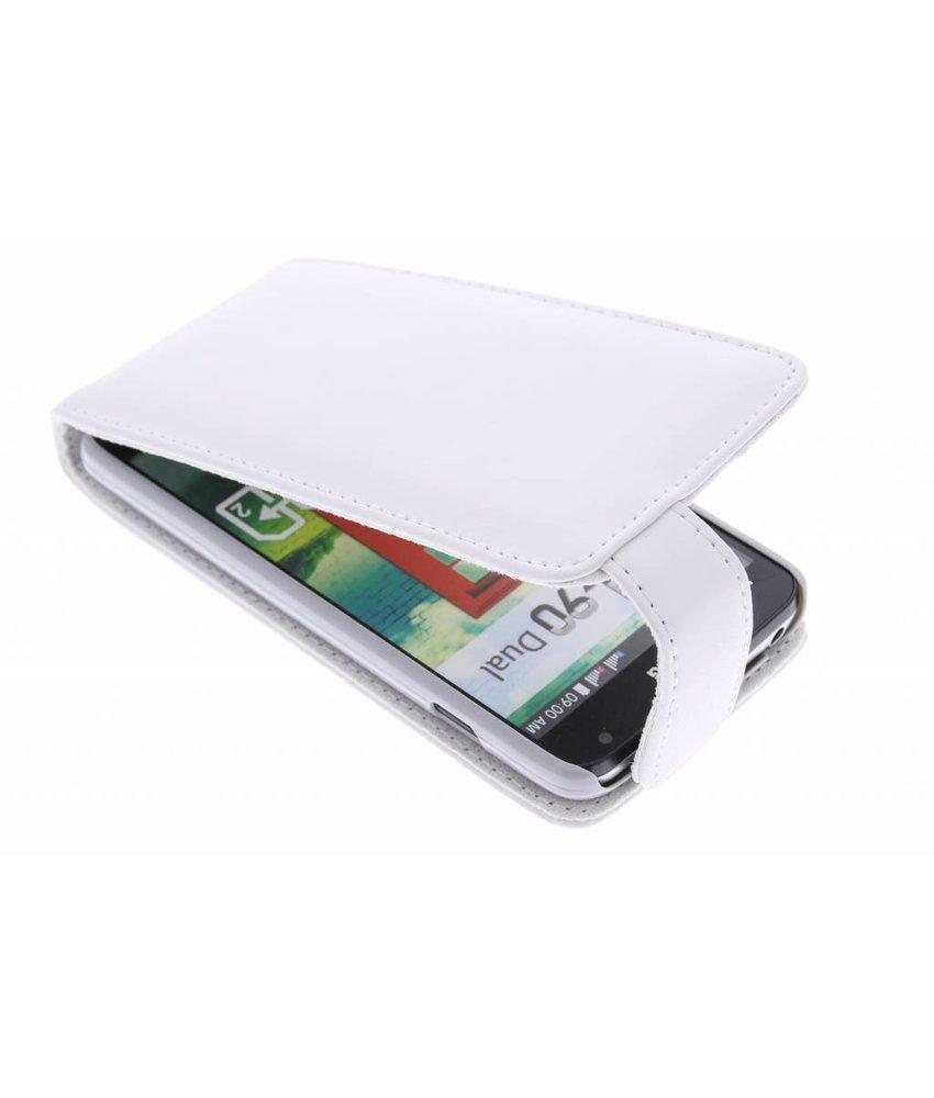 Wit stijlvolle flipcase LG L90