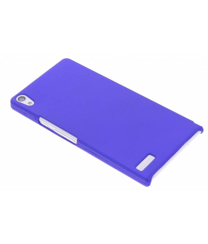 Blauw effen hardcase hoesje Huawei Ascend P6 / P6s