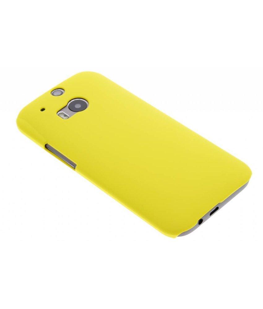 Geel effen hardcase HTC One M8 / M8s