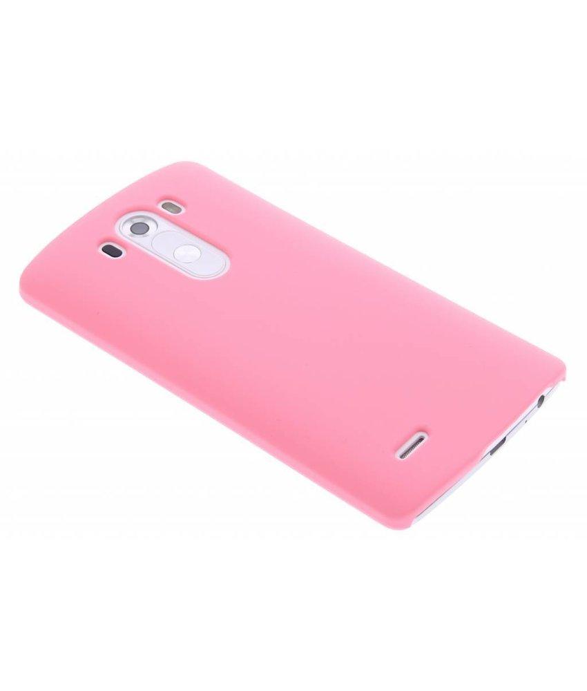 Roze effen hardcase hoesje LG G3