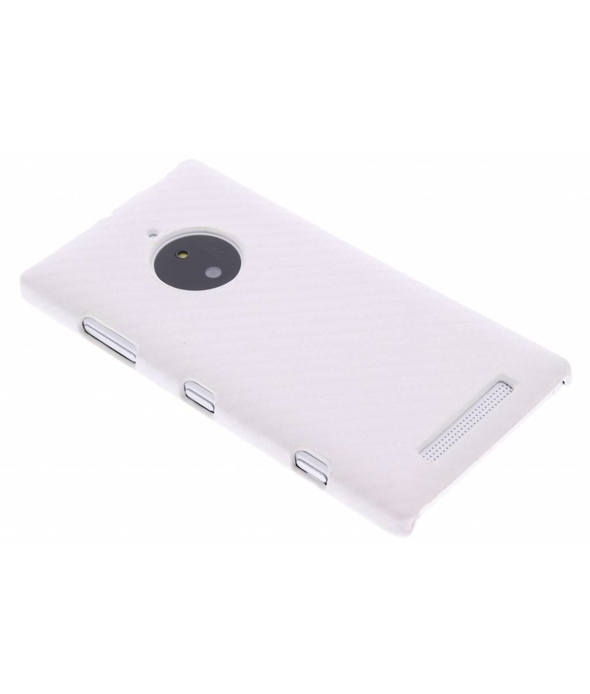 Wit carbon look hardcase Nokia Lumia 830