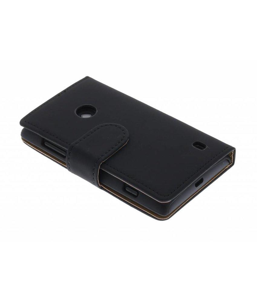 Zwart effen booktype hoes Nokia Lumia 520 / 525