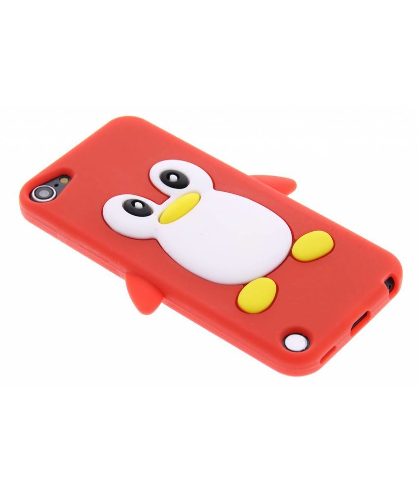 Rood pinguin siliconen hoesje iPod Touch 5g / 6