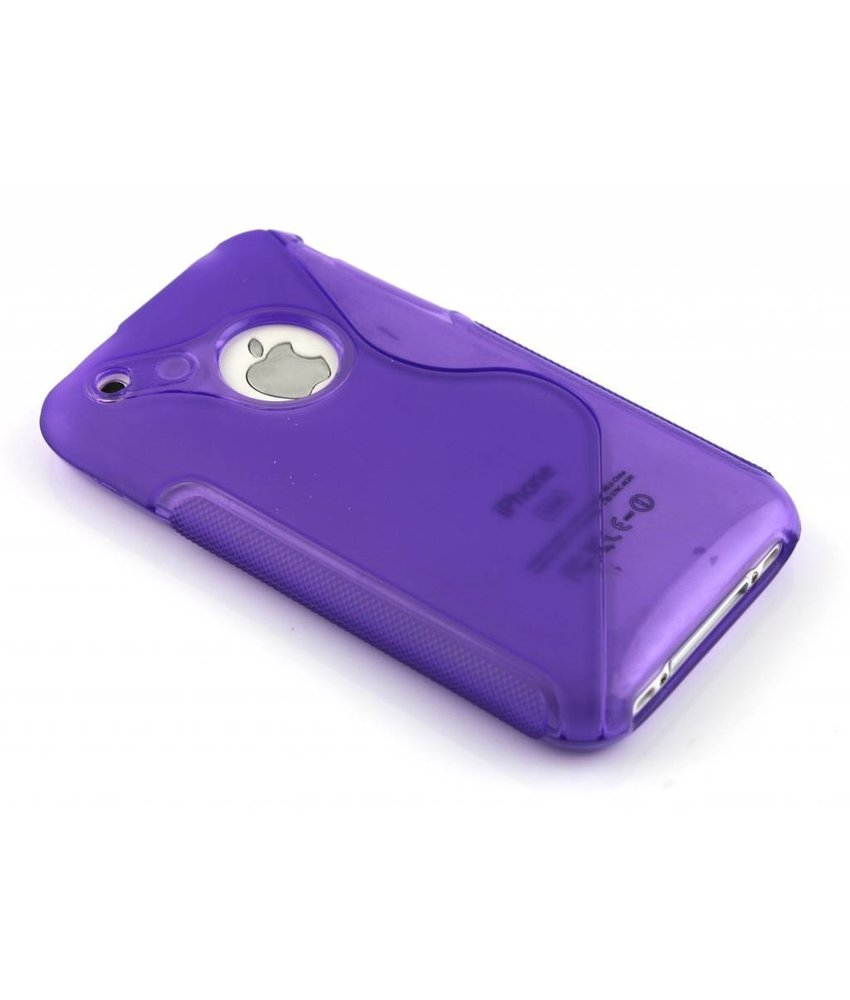 Paars S-line TPU hoesje iPhone 3gs