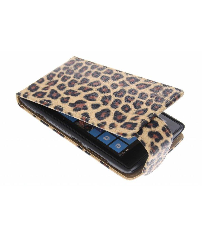 Bruin luipaard flipcase Nokia Lumia 520