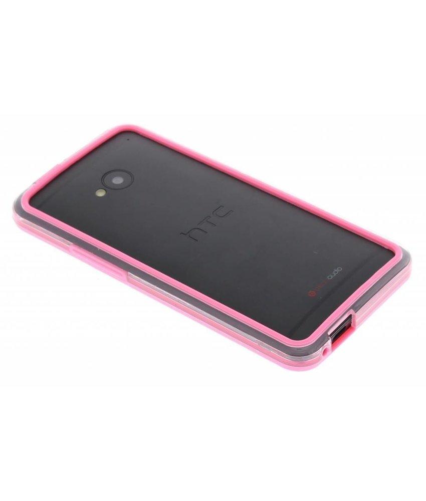 Roze transparant bumper HTC One