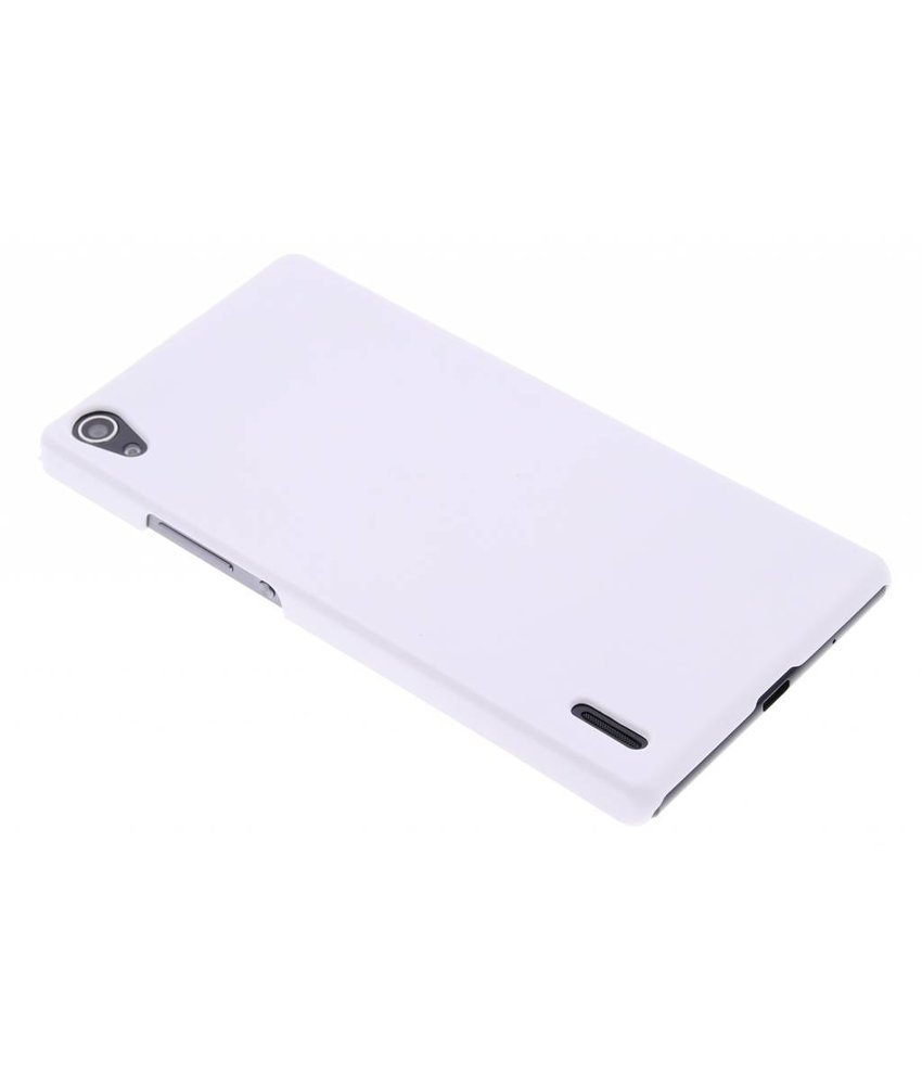Wit effen hardcase hoesje Huawei Ascend P7