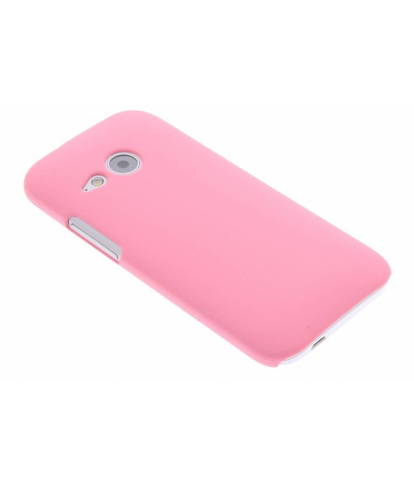 Roze effen hardcase HTC One Mini 2