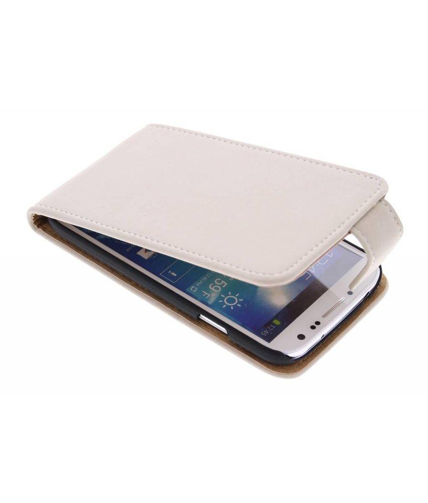 Premium suède flipcase Samsung Galaxy S4