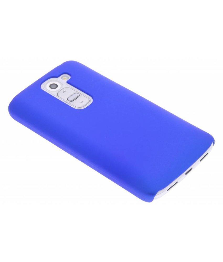 Blauw effen hardcase hoesje LG G2 Mini