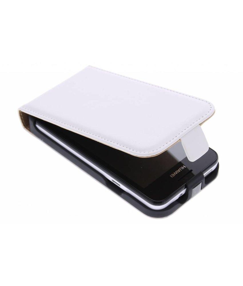 Wit luxe flipcase Huawei Ascend Y330