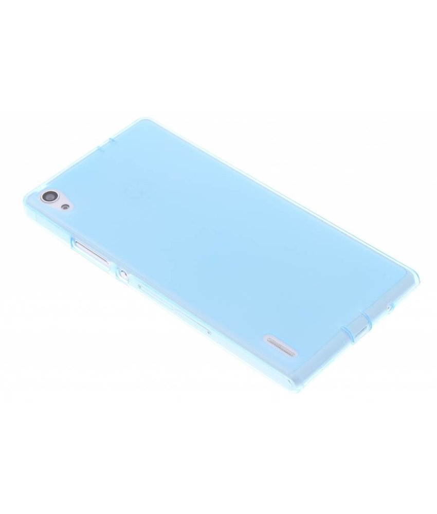 Turquoise hard siliconen hoesje Huawei Ascend P7