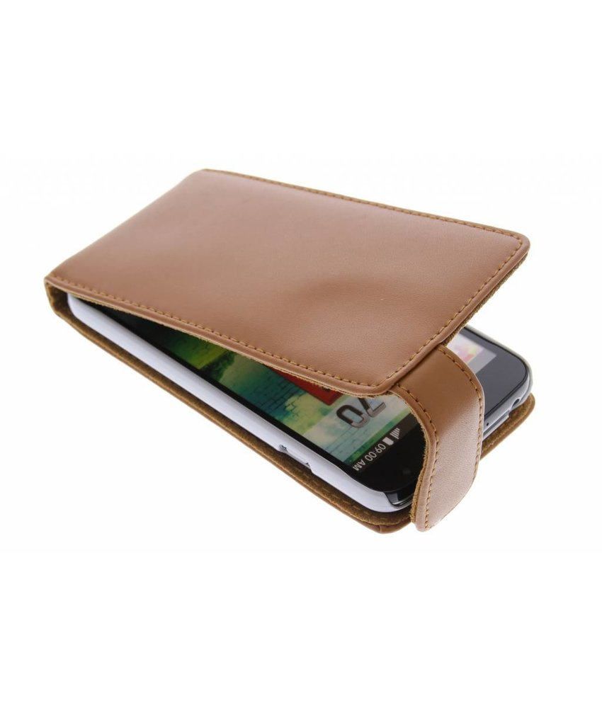 Bruin stijlvolle flipcase LG L70