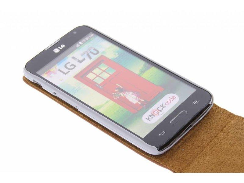 LG L70 hoesje - Bruine stijlvolle flipcase voor