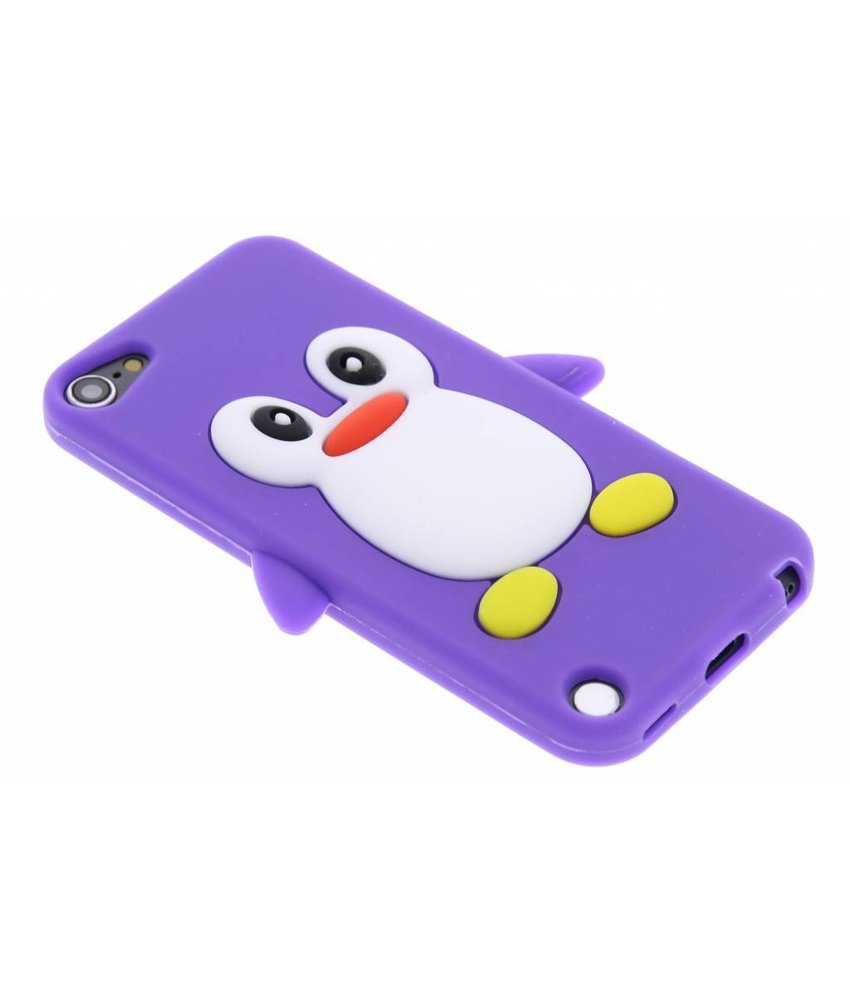 Paars pinguin siliconen hoesje iPod Touch 5g / 6