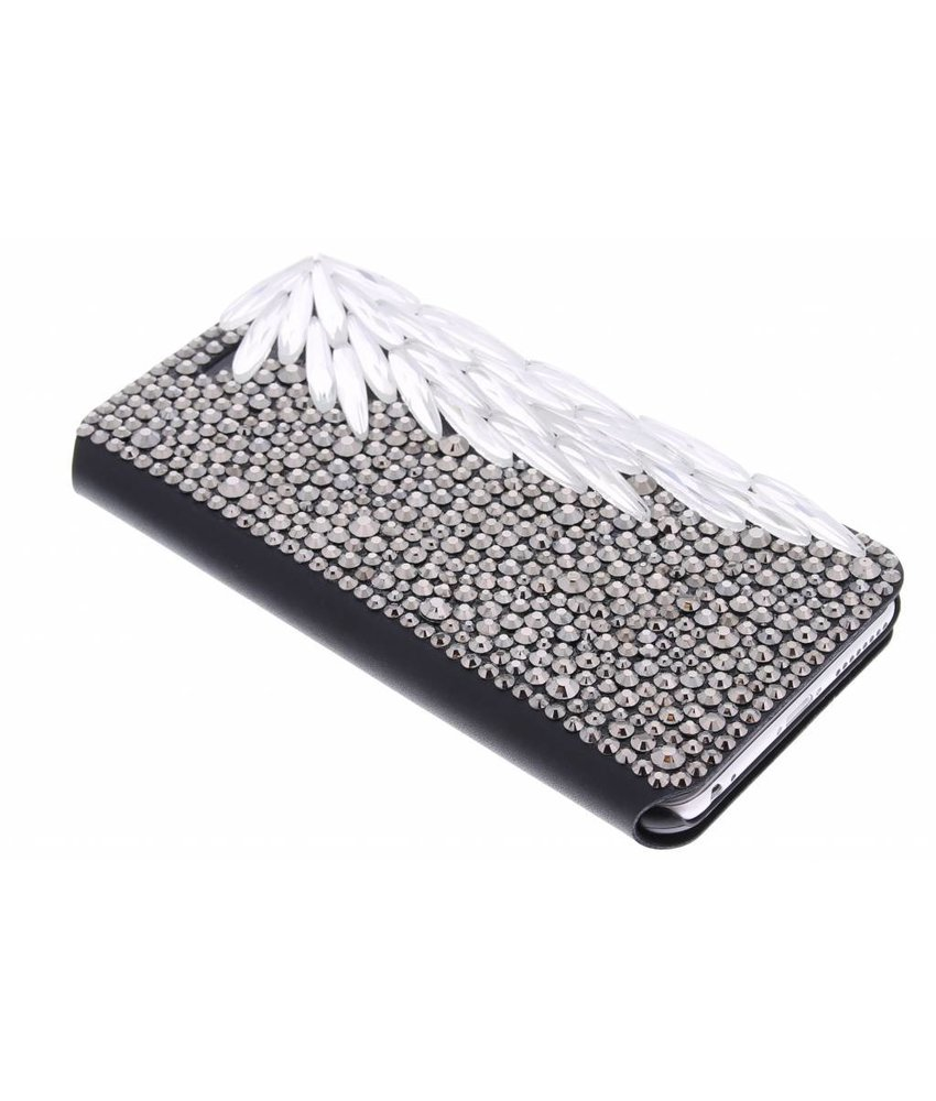 Glazen strass booktype hoes iPhone 6(s) Plus