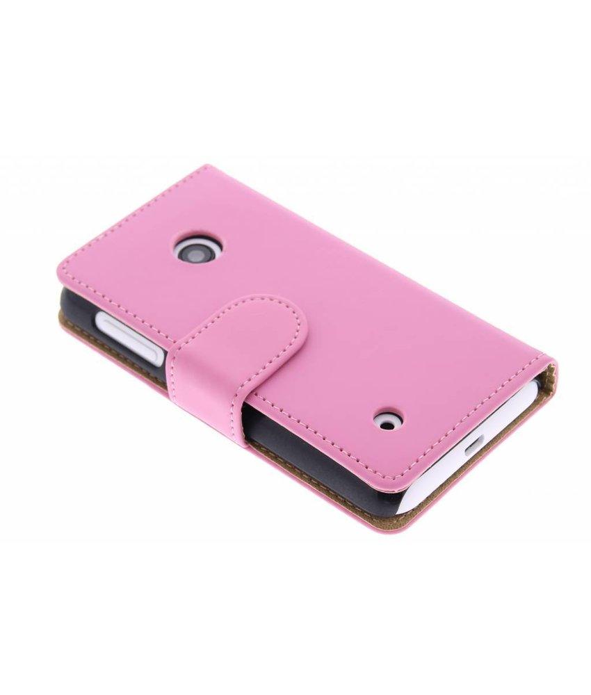 Roze effen booktype hoes Nokia Lumia 530