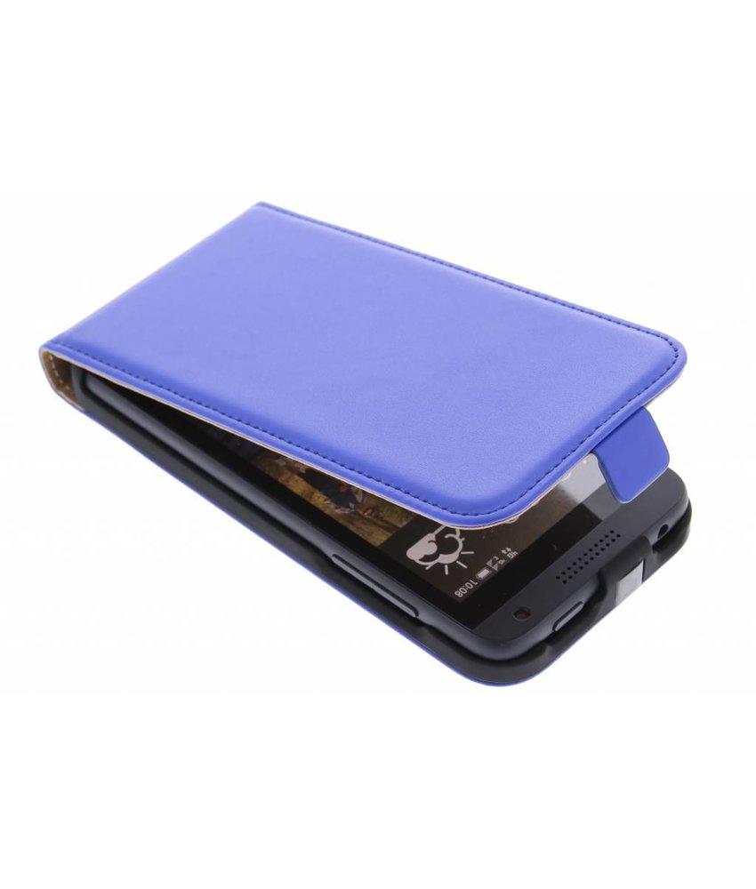 Blauw luxe flipcase HTC Desire 610