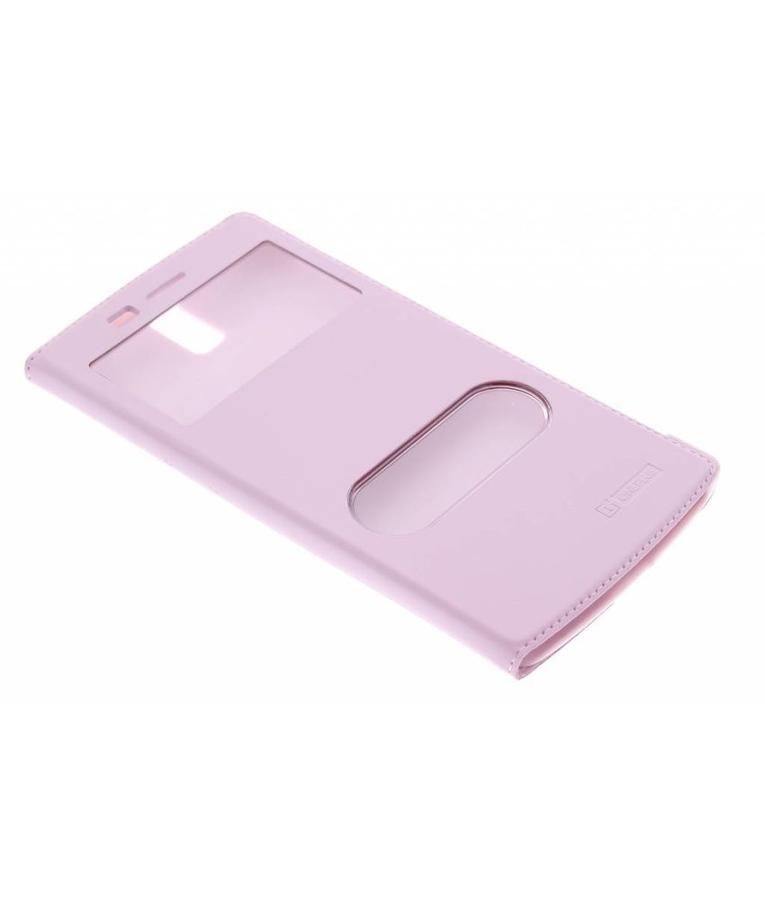 Roze luxe slim booktype hoes OnePlus One
