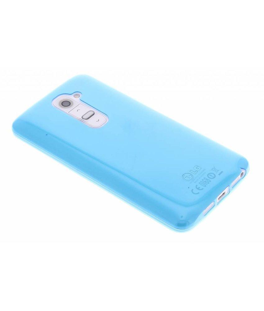 Blauw ultra thin transparant TPU hoesje LG G2