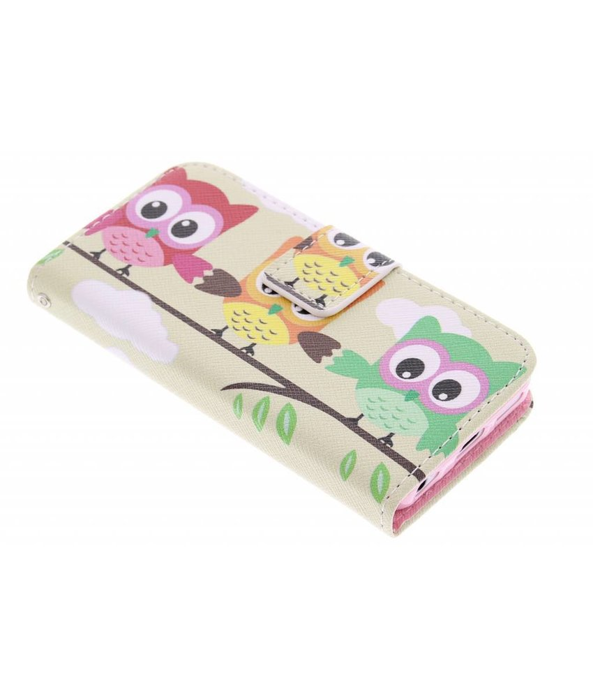 Design TPU booktype hoes iPhone 5c