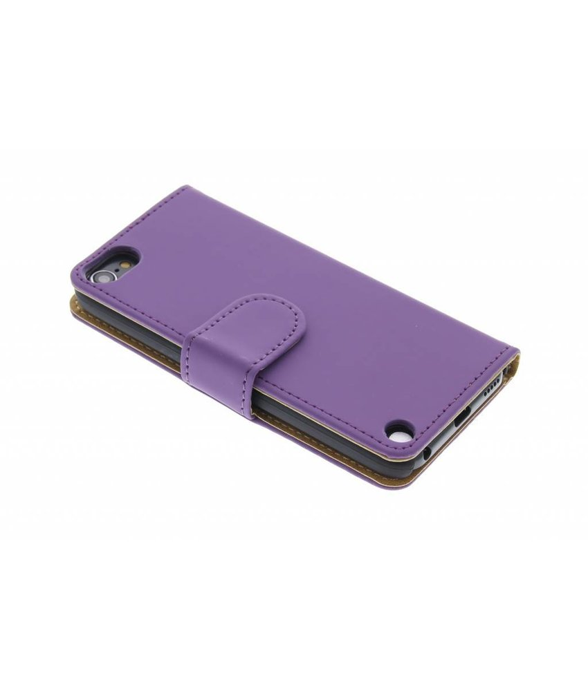 Paars effen booktype hoes iPod Touch 5g / 6
