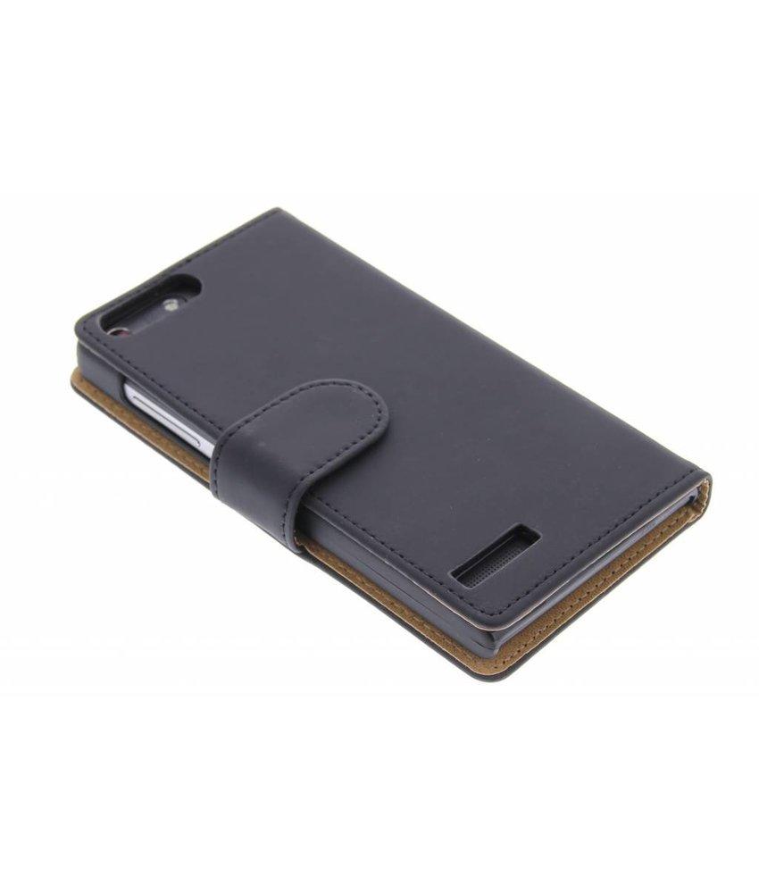 Zwart effen booktype hoes Huawei Ascend G6 4G