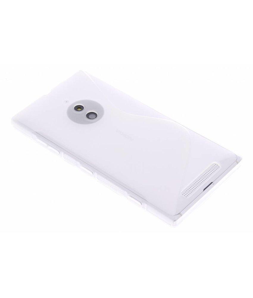 Transparant S-line TPU hoesje Nokia Lumia 830