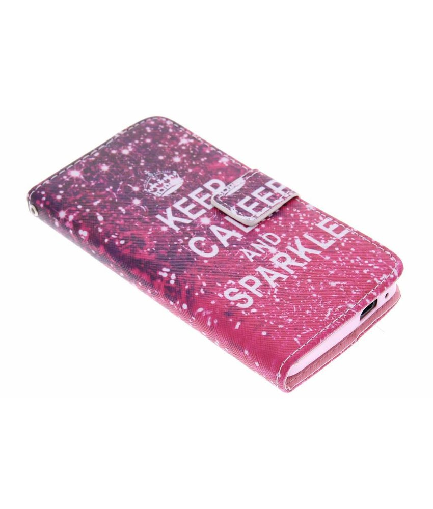 Design TPU booktype hoes HTC One