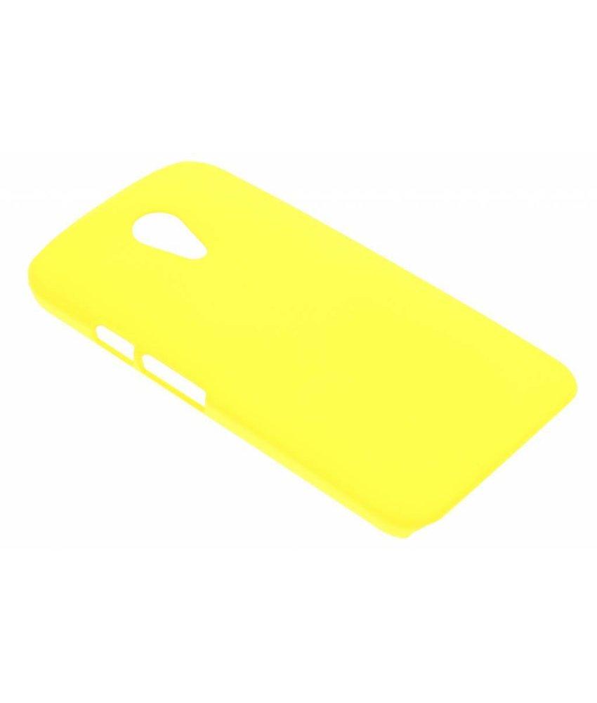 Geel effen hardcase Motorola Moto G 2nd Gen 2014