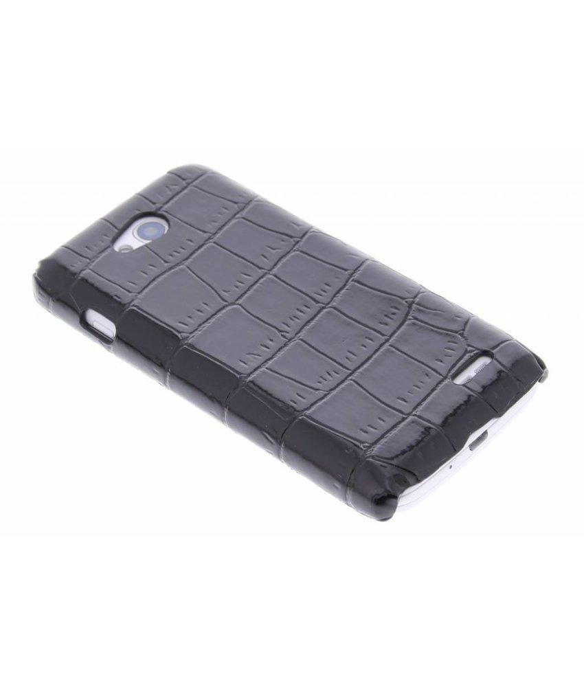 Zwart krokodil design hardcase hoesje LG L90