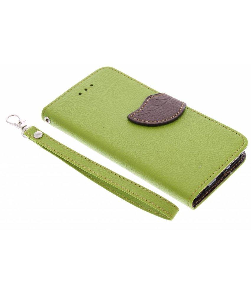 Groen blad design booktype hoes iPhone 5c