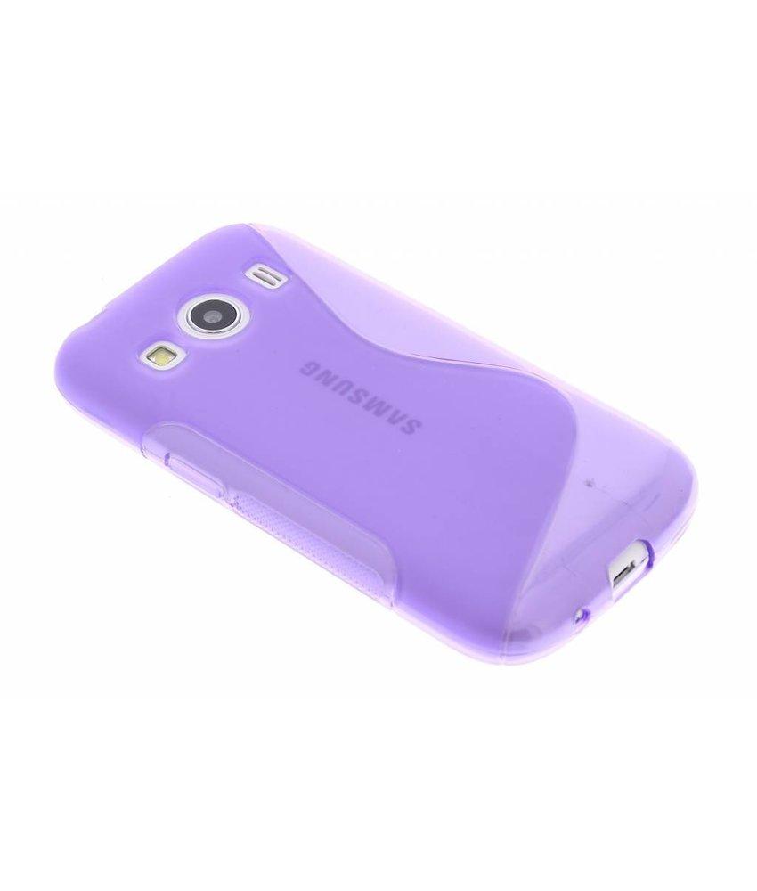 Paars S-line TPU hoesje Samsung Galaxy Ace 4