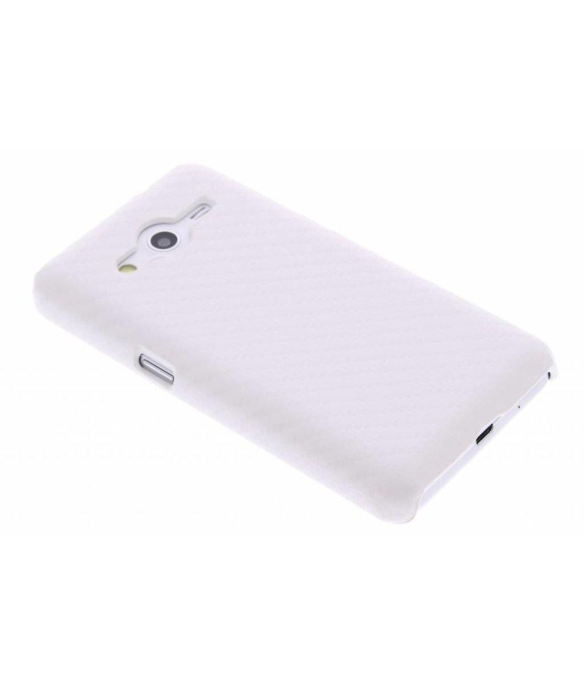 Wit carbon look hardcase Samsung Galaxy Core 2