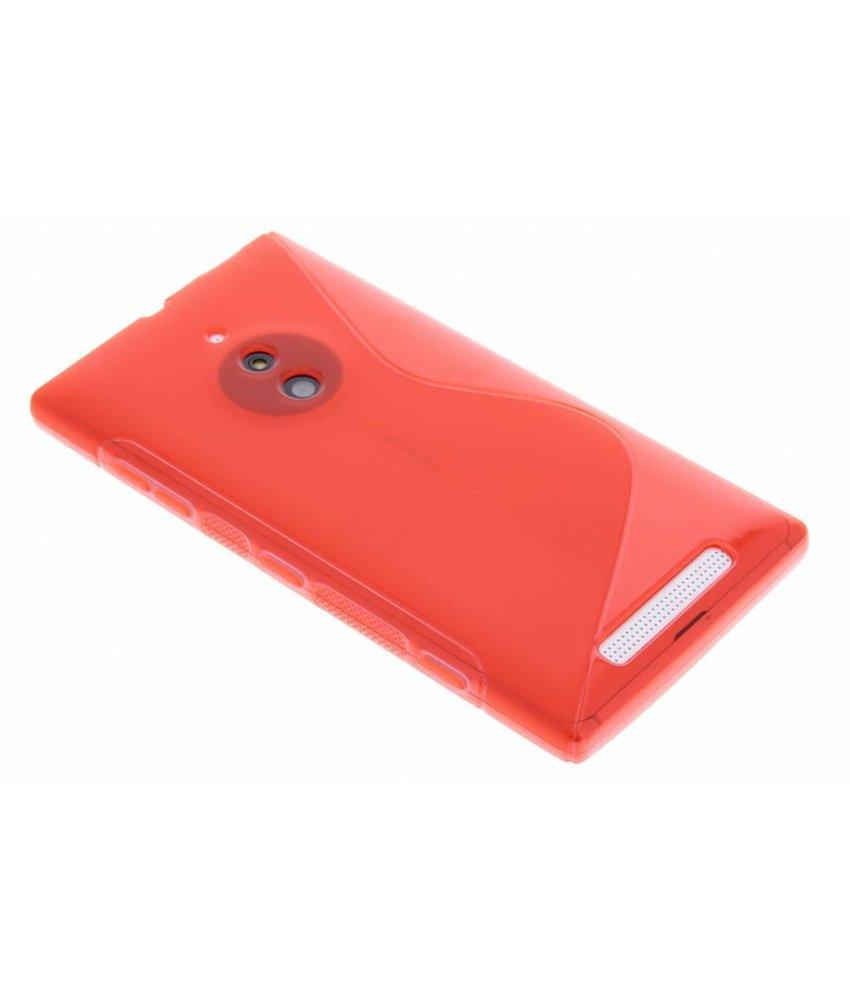 Rood S-line TPU hoesje Nokia Lumia 830