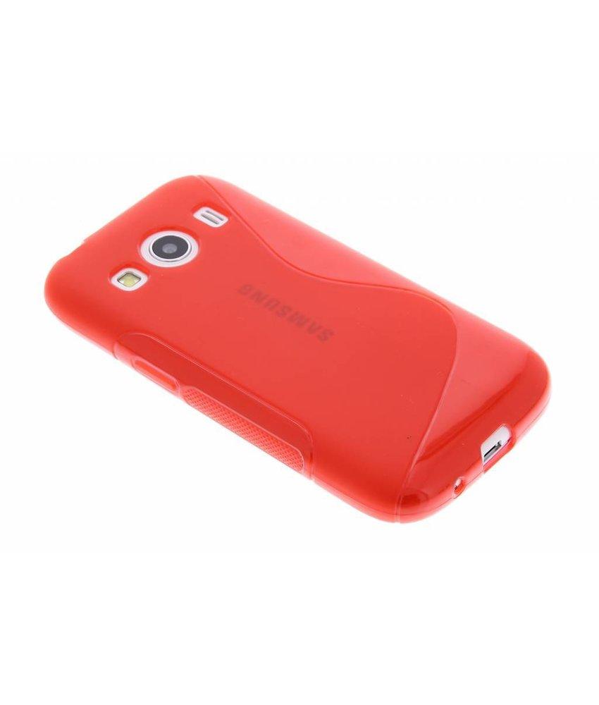 Rood S-line TPU hoesje Samsung Galaxy Ace 4