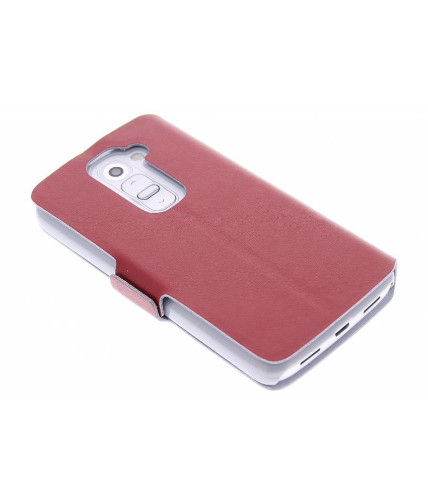 Rood luxe booktype hoes LG G2 Mini