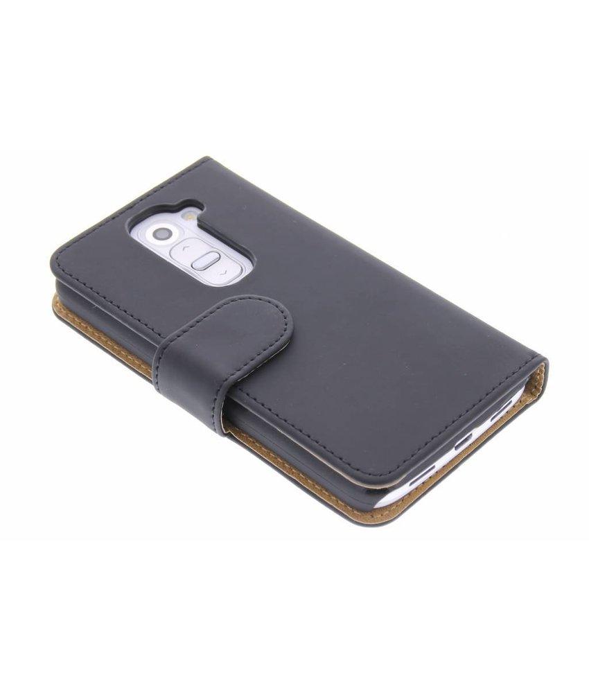 Zwart effen booktype hoes LG G2 Mini