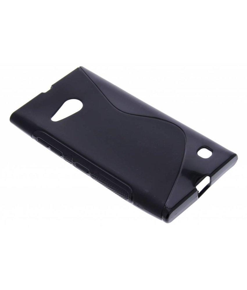 Zwart S-line TPU hoesje Nokia Lumia 730 / 735