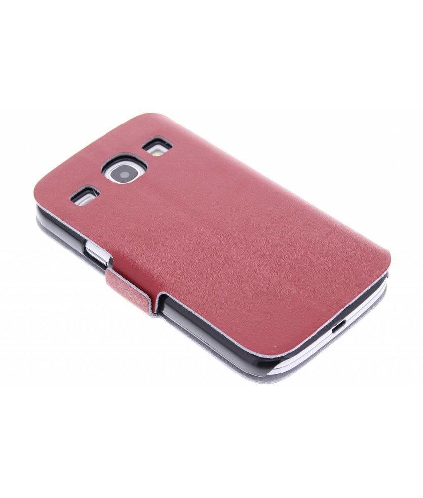 Rood luxe booktype hoes Samsung Galaxy Core