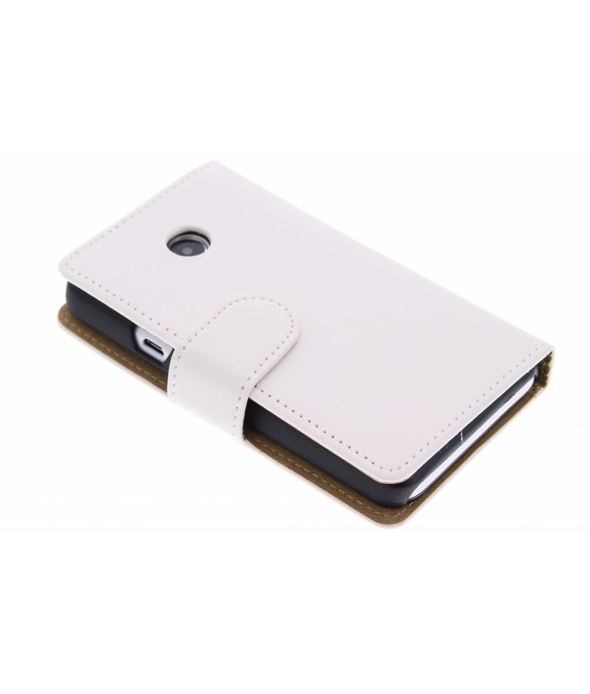 Wit effen booktype hoes Huawei Ascend Y330